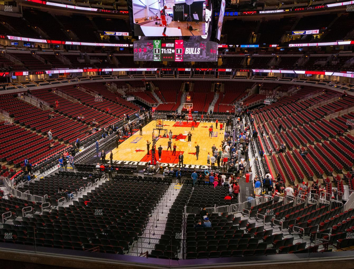 Chicago Bulls at United Center Section 208 View