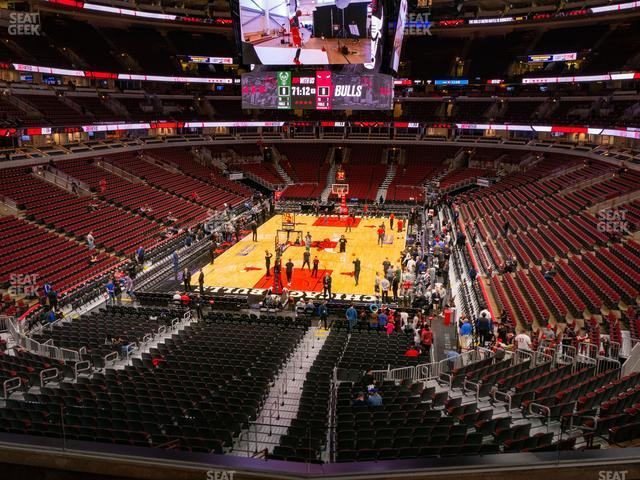 United Center Section 208 view