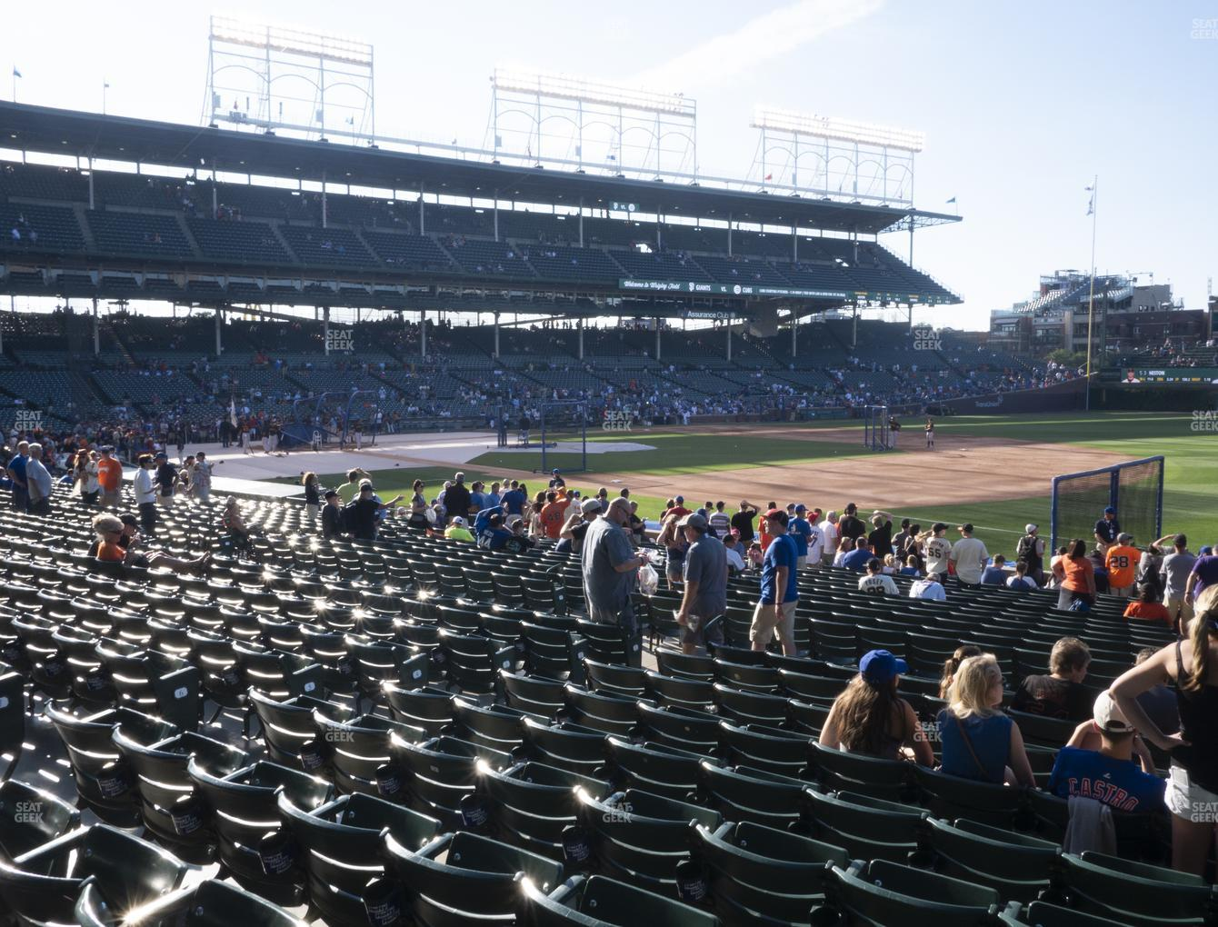 Chicago Cubs at Wrigley Field Section 128 View