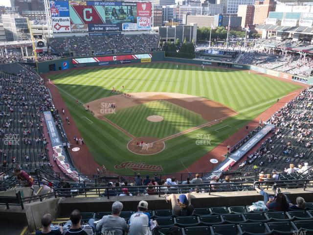 Progressive Field Section 553 view