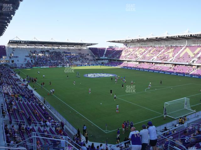 Exploria Stadium Section 108 view