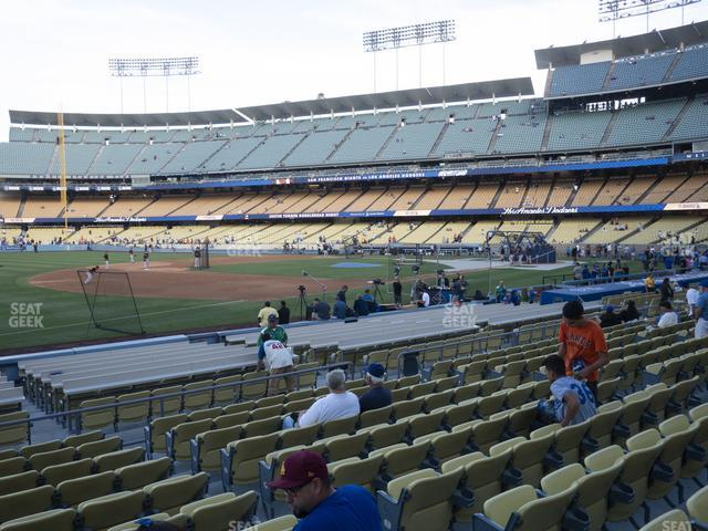 Dodger Stadium Field Box 35 view