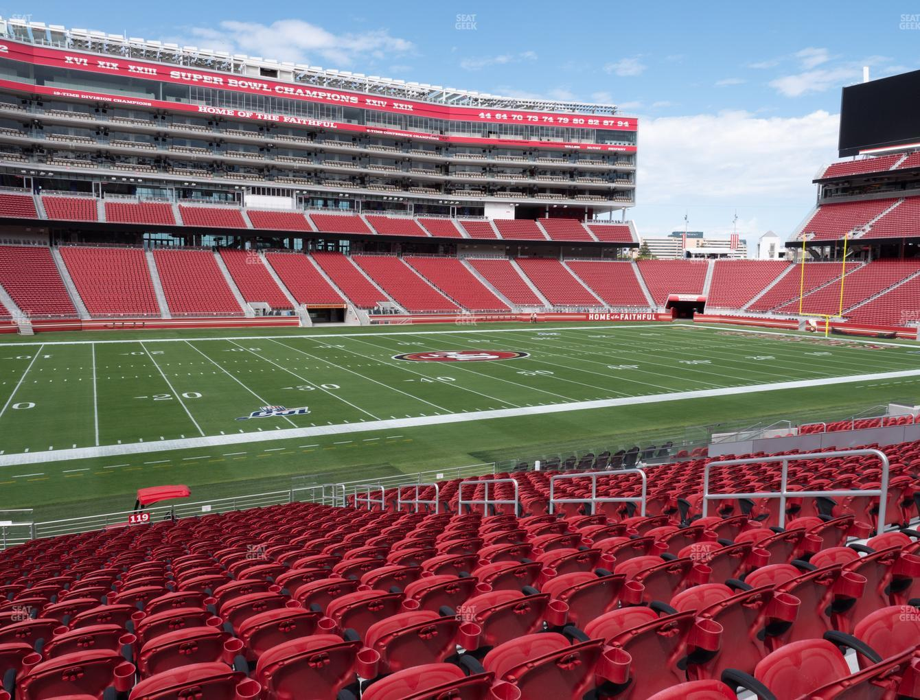 San Francisco 49ers at Levi's Stadium Section 119 View