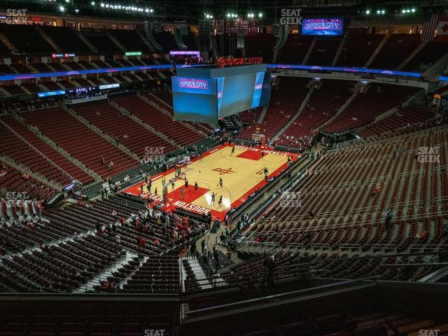 Toyota Center Section 415 view