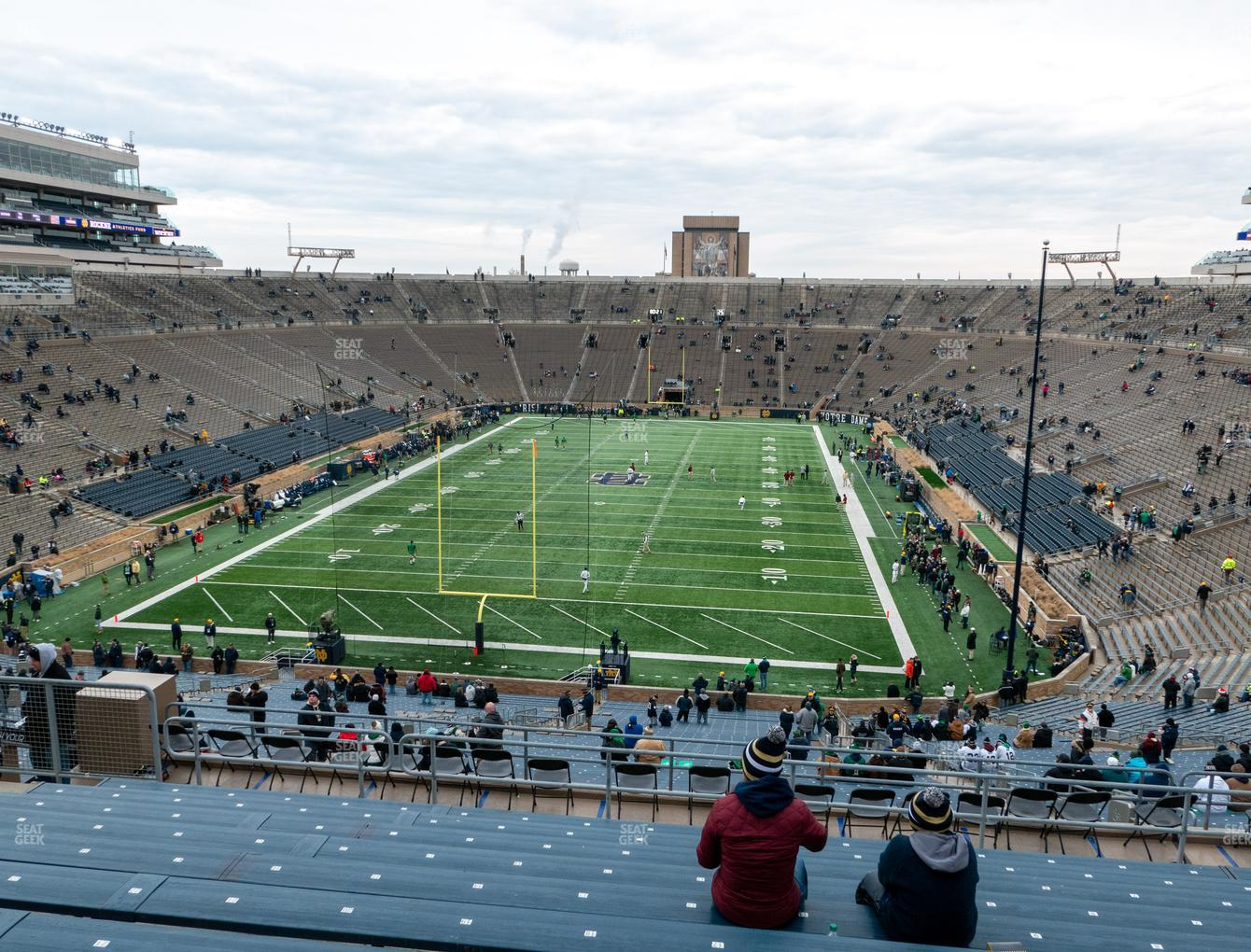 Notre Dame Fighting Irish Football at Notre Dame Stadium Section 118 View