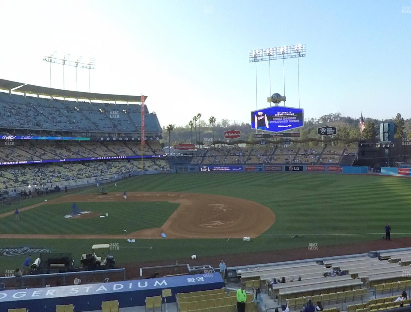Los Angeles Dodgers at Dodger Stadium Loge Box 136 View