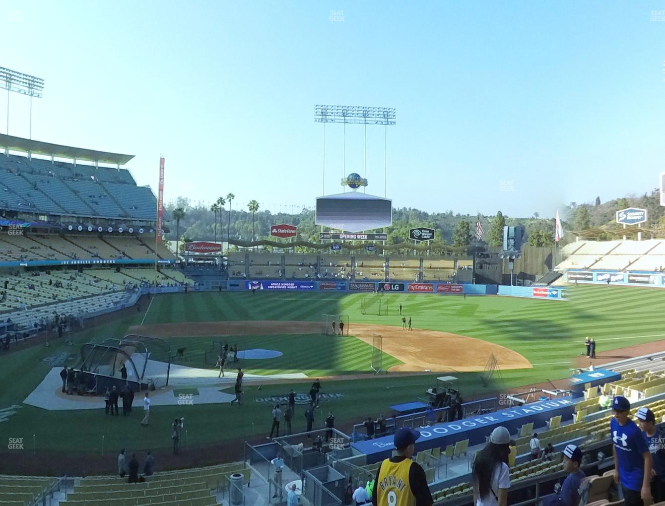 Los Angeles Dodgers at Dodger Stadium Loge Box 122 View