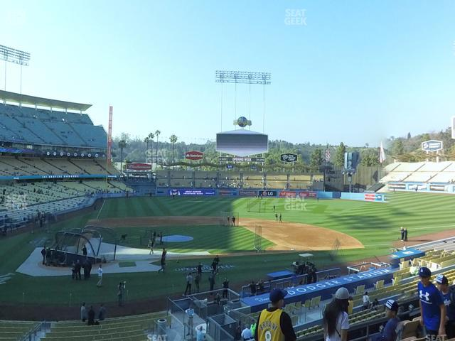 Dodger Stadium Loge Box 122 view