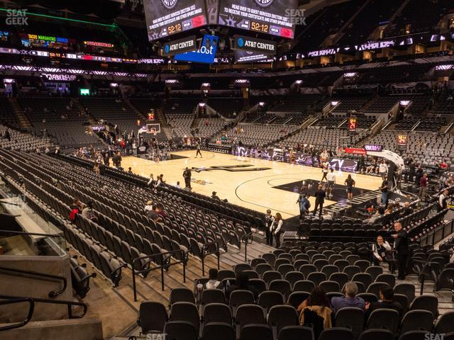 AT&T Center Section 118 view