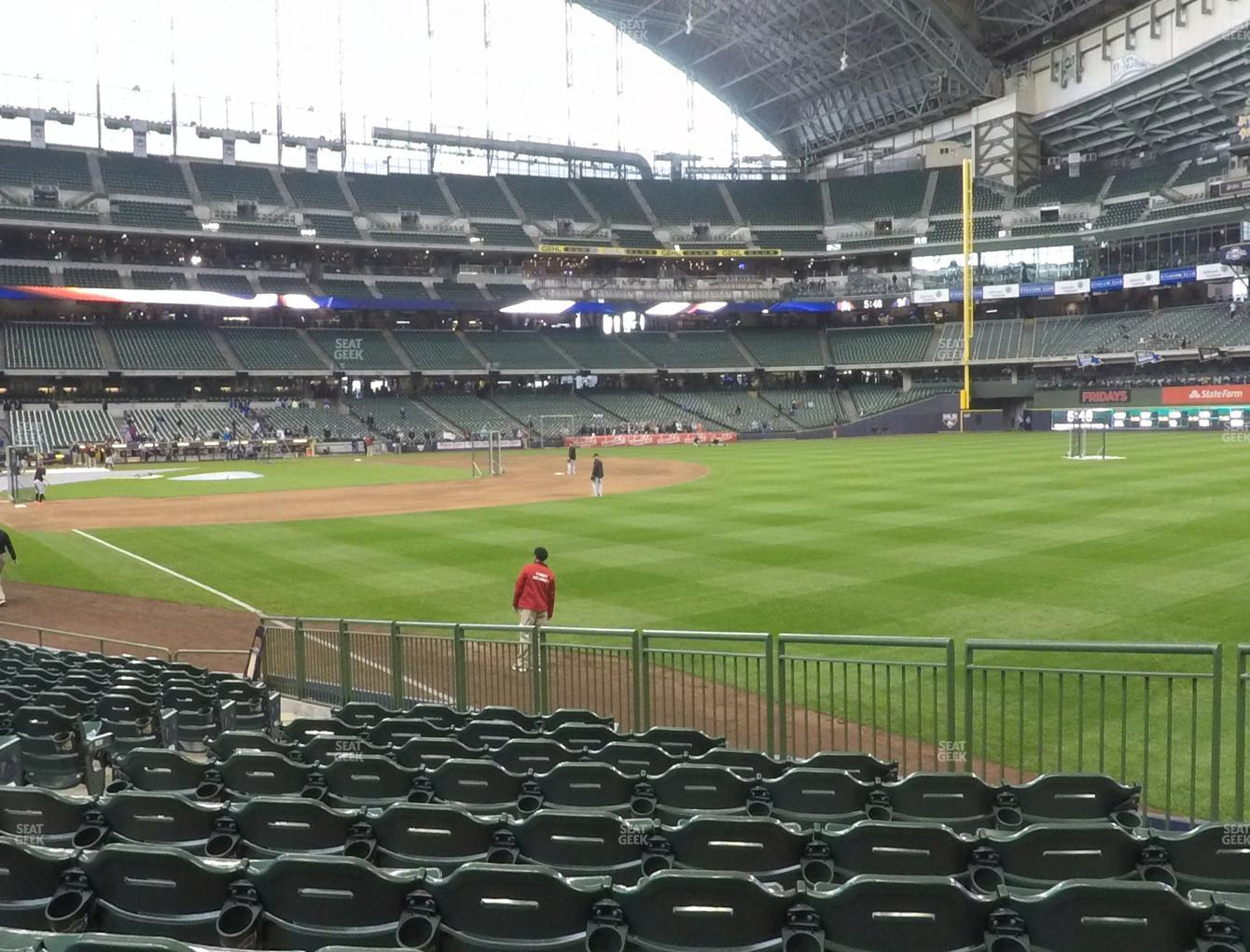 Milwaukee Brewers at Miller Park Section 107 View