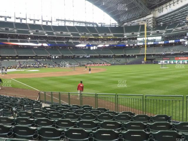 Miller Park Section 107 view