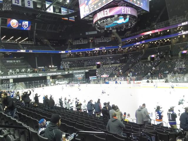 Barclays Center Section 22 view