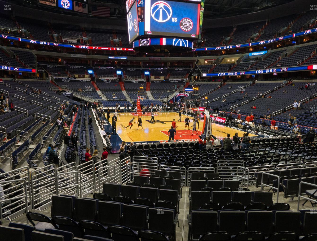 Washington Wizards at Capital One Arena Section 115 View