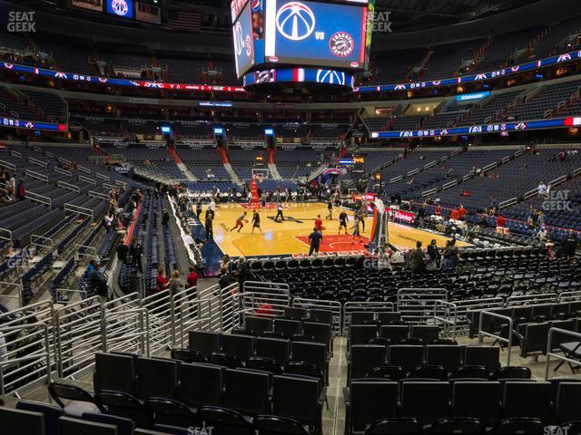 Capital One Arena Section 115 view