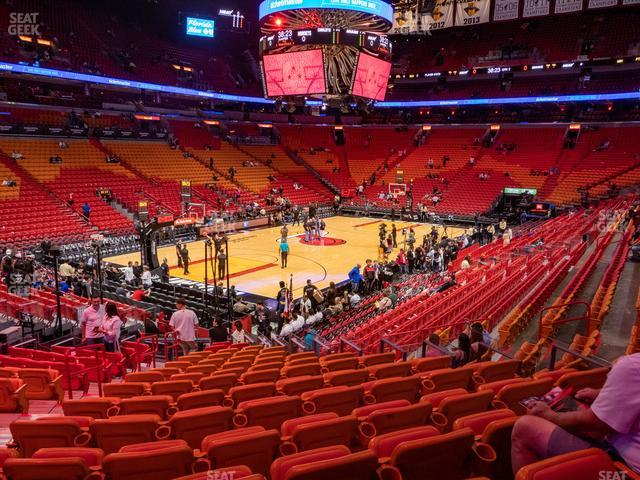 American Airlines Arena Section 122 view