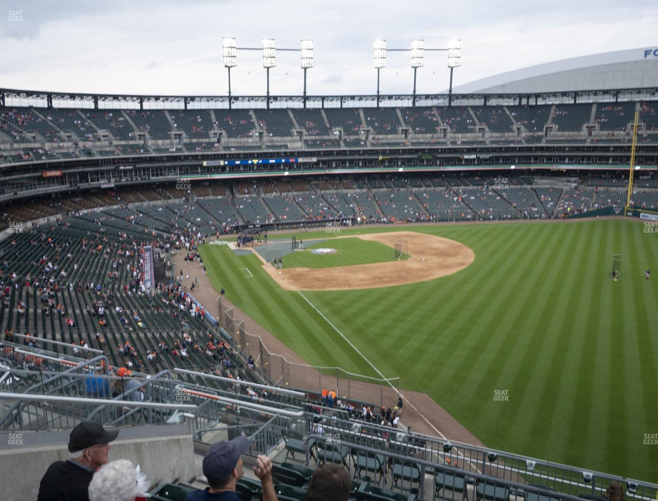 Detroit Tigers at Comerica Park Section 211 View