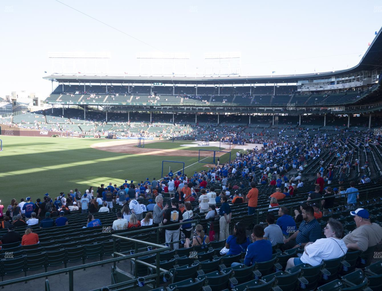 Chicago Cubs at Wrigley Field Section 203 View