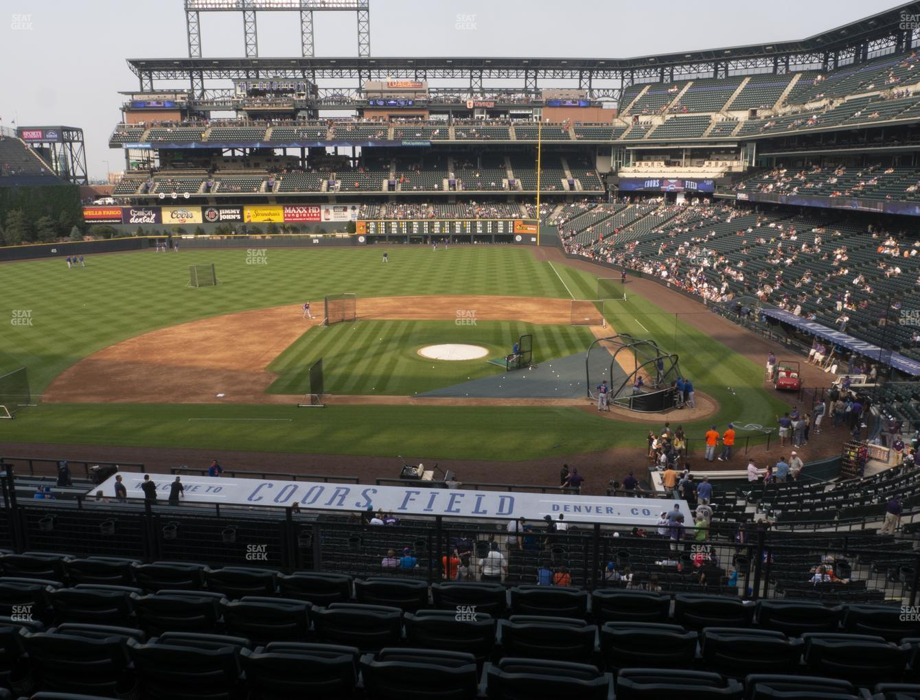 Colorado Rockies at Coors Field Section 236 View