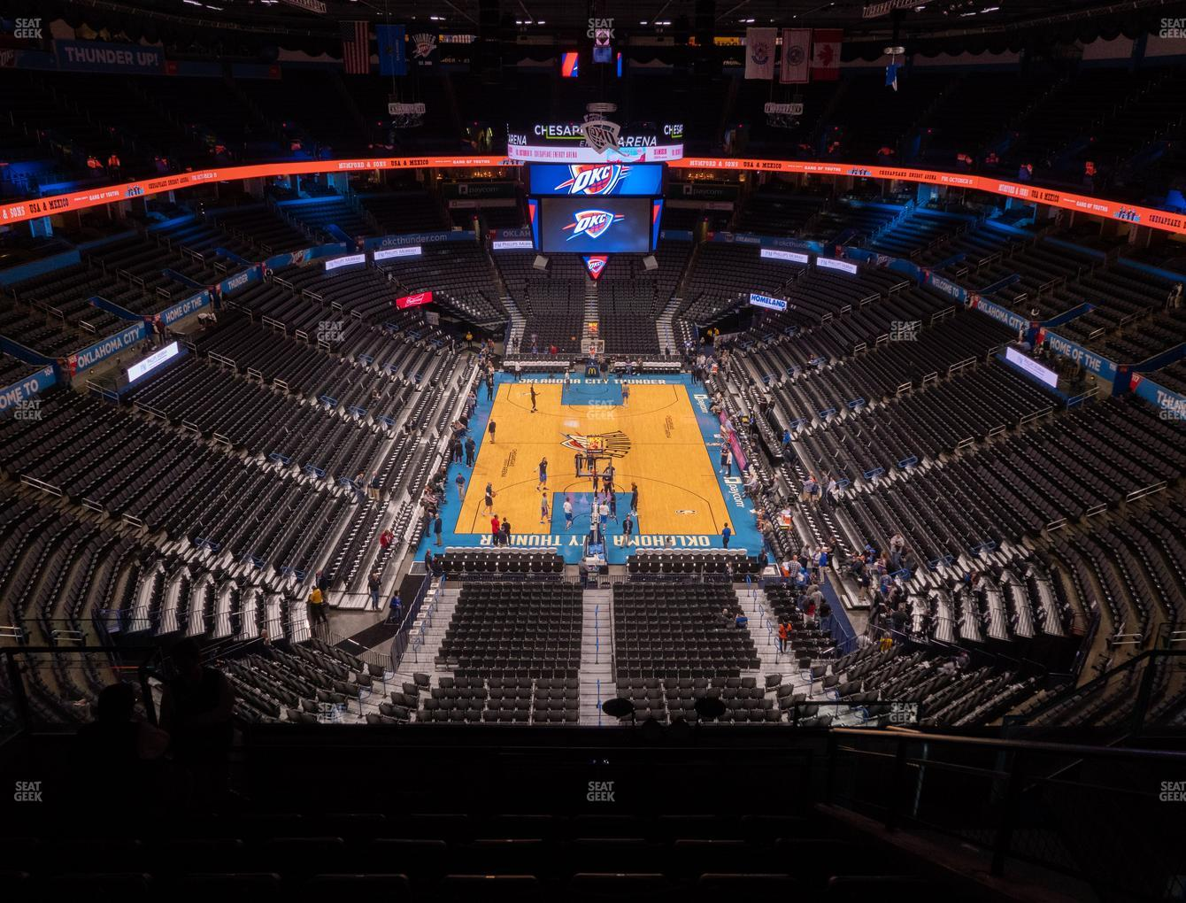 Oklahoma City Thunder at Chesapeake Energy Arena Section 301 View