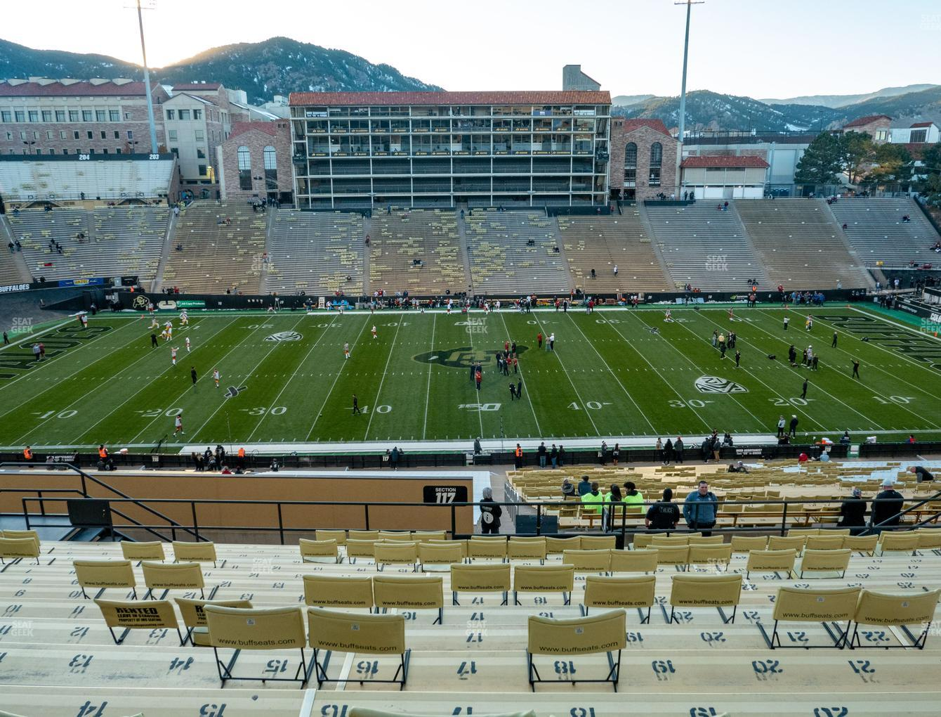 Colorado Buffaloes Football at Folsom Field Section 218 View