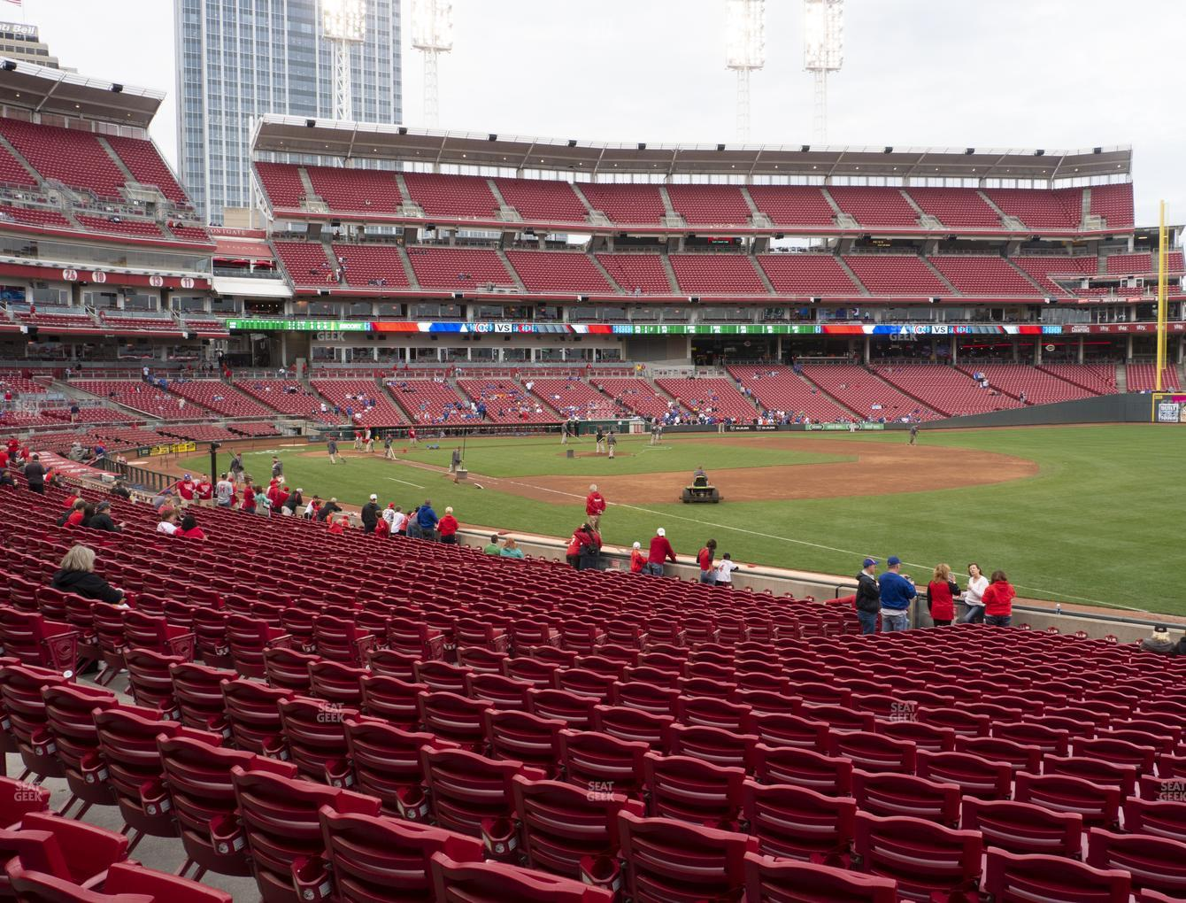 Cincinnati Reds at Great American Ball Park Section 135 View