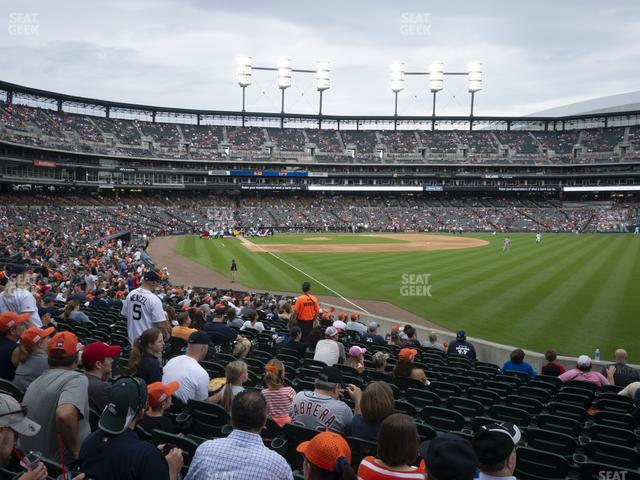 Comerica Park Section 113 view