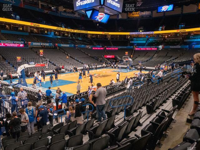 Chesapeake Energy Arena Section 118 view
