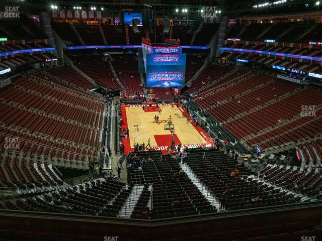 Toyota Center Section 402 view