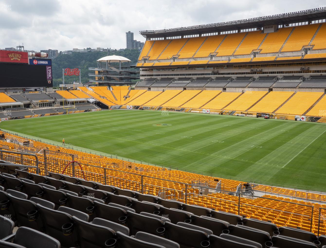 Pittsburgh Steelers at Heinz Field Section 215 View