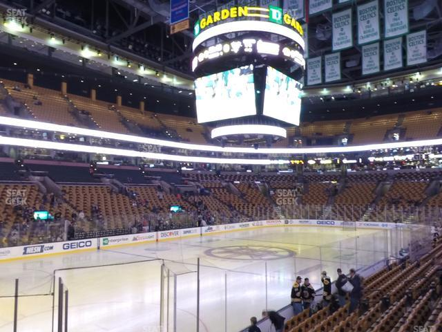 TD Garden Section Loge 15 view