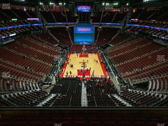 Toyota Center Section 418 view