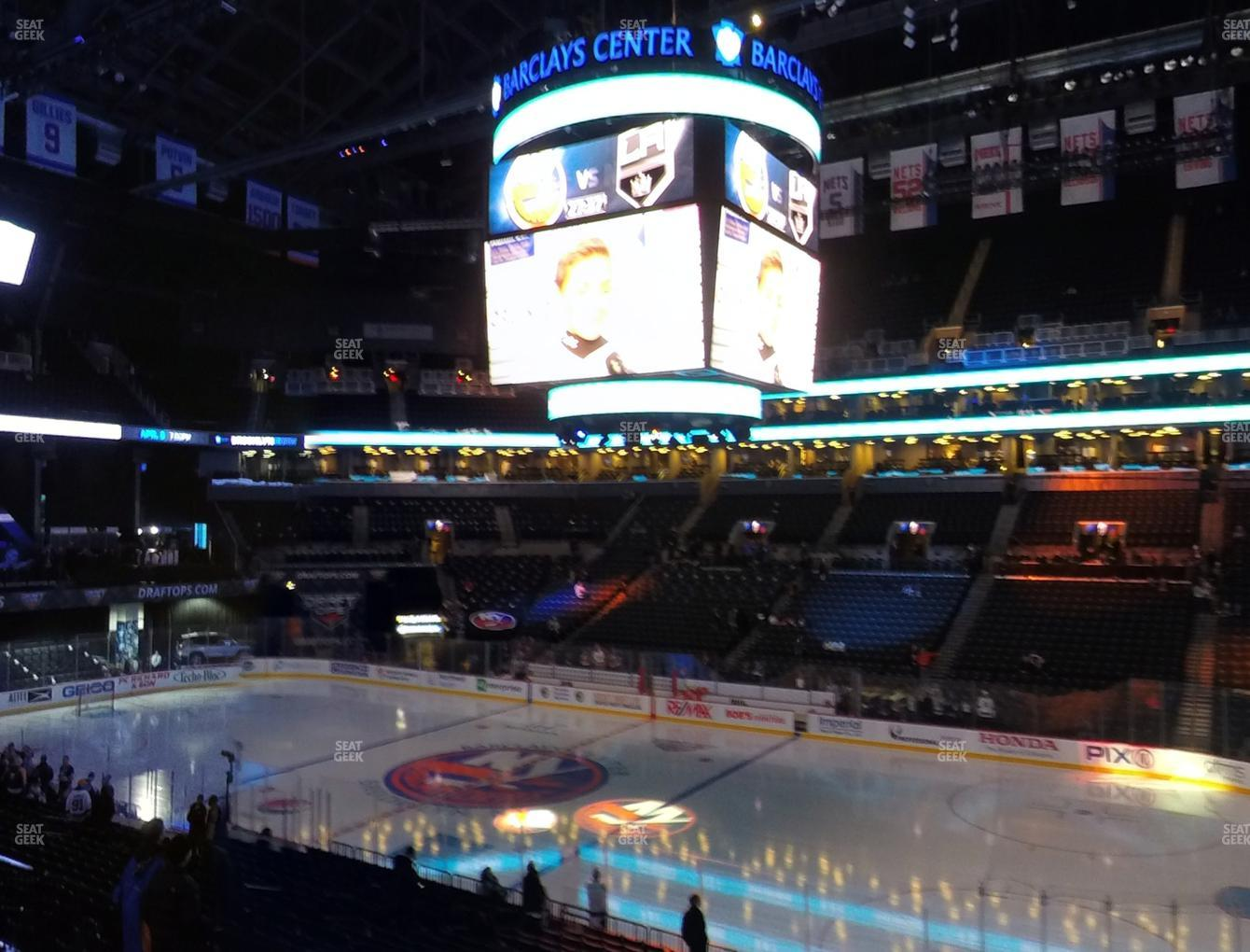New York Islanders at Barclays Center Section 122 View