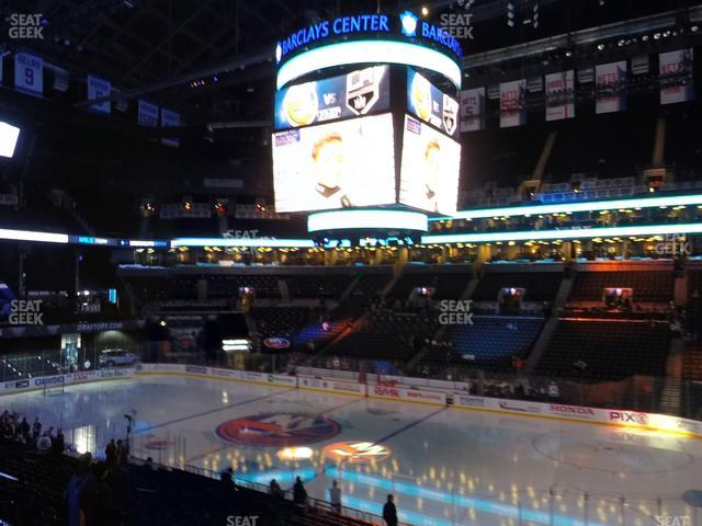 Barclays Center Section 122 view