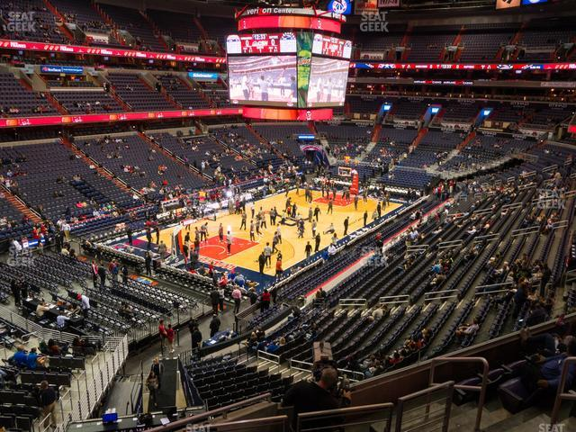 Capital One Arena Section 210 view