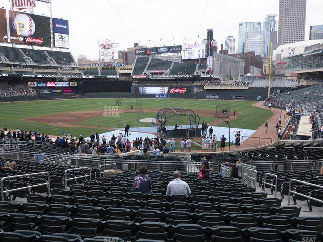 Target Field Section 116 view