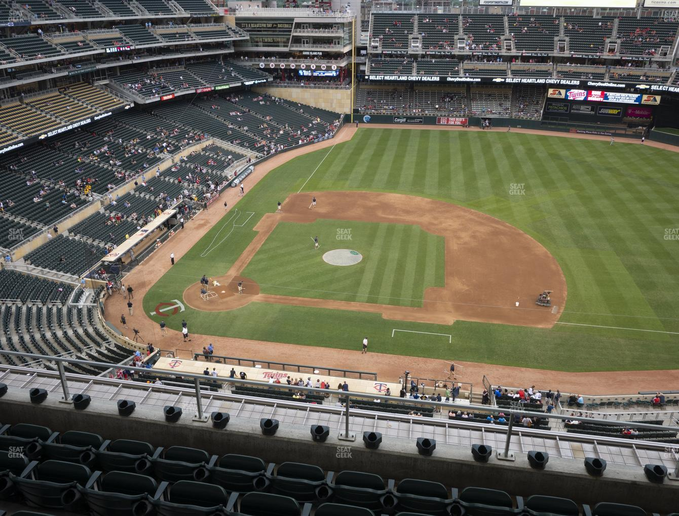 Minnesota Twins at Target Field Section 309 View