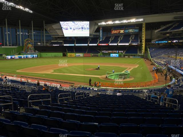 Marlins Park Section 17 view