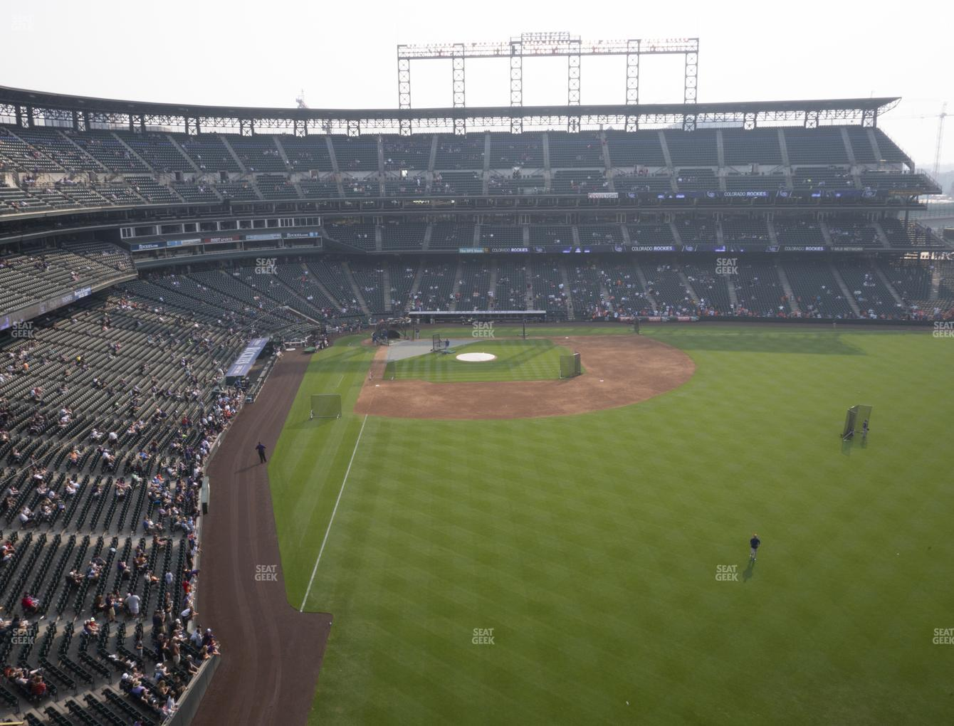 Colorado Rockies at Coors Field Lower 307 View