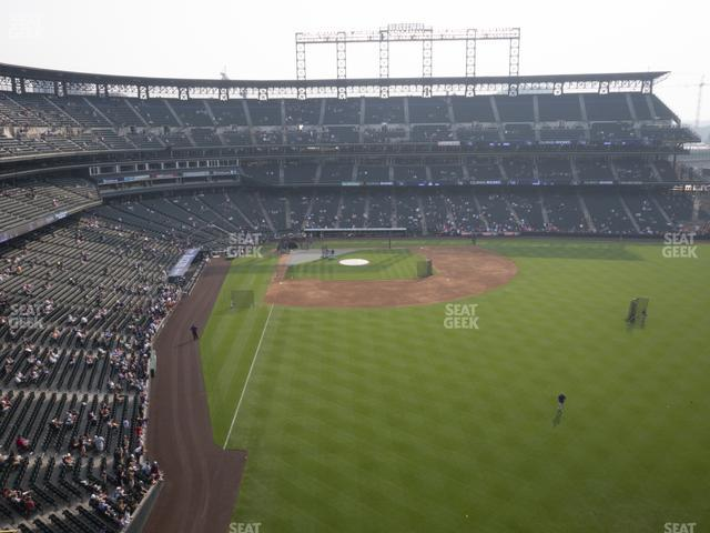 Coors Field Lower 307 view