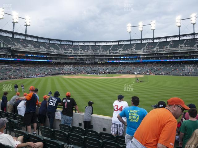 Comerica Park Section 101 view