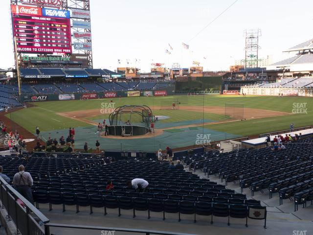 Citizens Bank Park Section 122 view