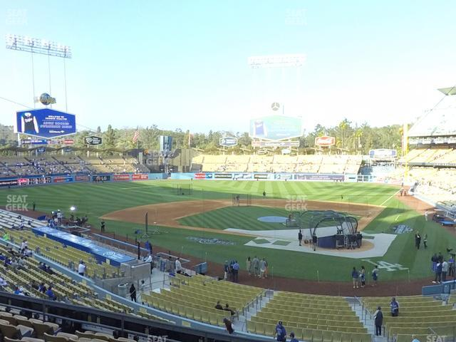 Dodger Stadium Loge Box 113 view