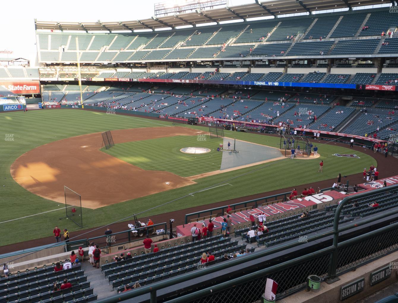 Angel Stadium Of Anaheim Section 314 Seat Views Seatgeek