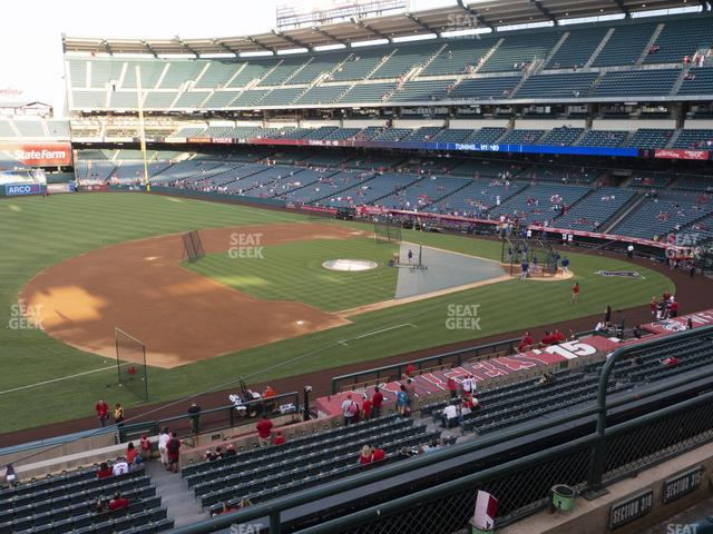 Angel Stadium of Anaheim Section 314 view