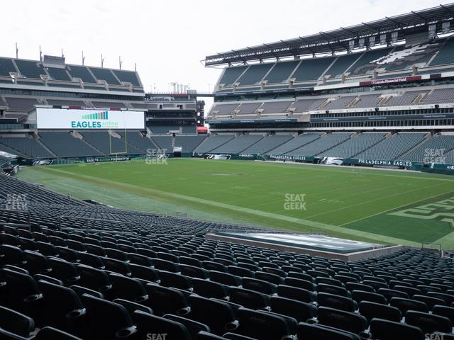 Lincoln Financial Field Section 124 view