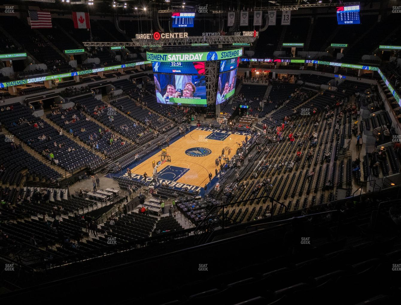 Minnesota Lynx at Target Center Section 238 View