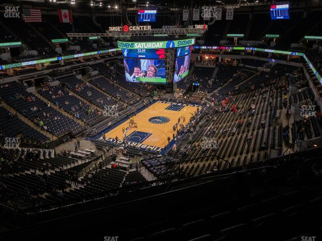 Target Center Section 238 view