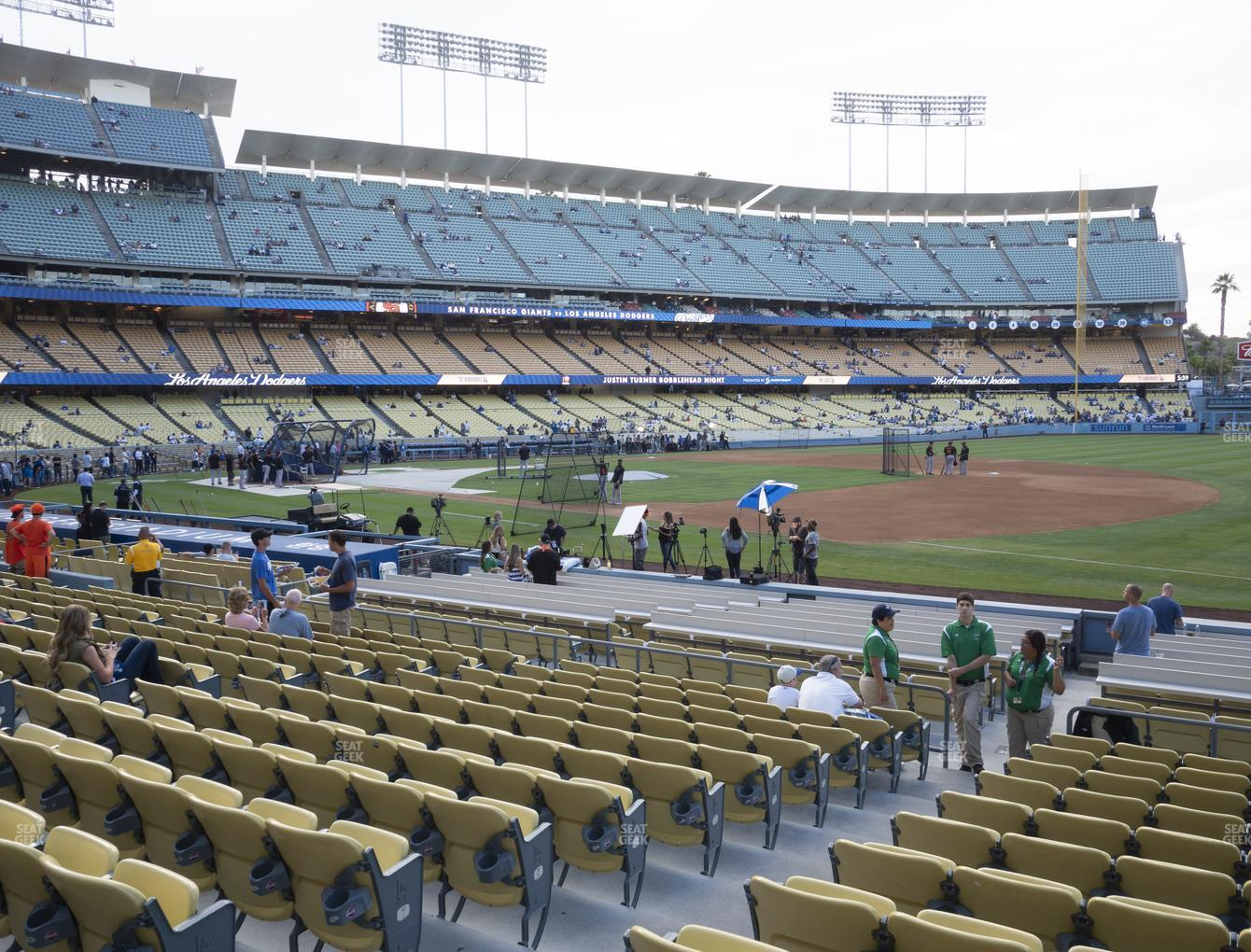 Los Angeles Dodgers at Dodger Stadium Field Box 32 View