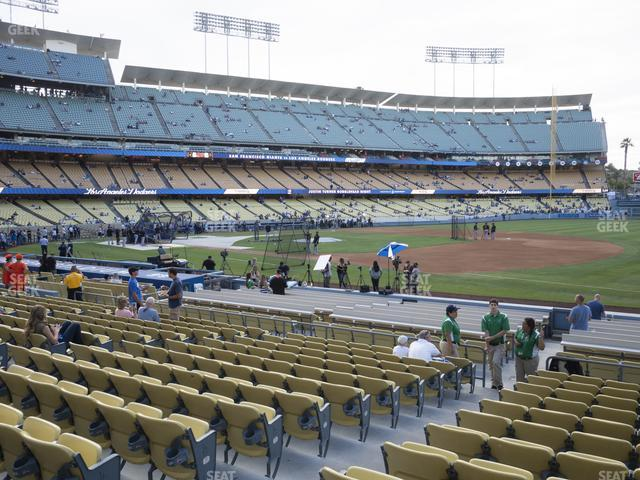 Dodger Stadium Field Box 32 view