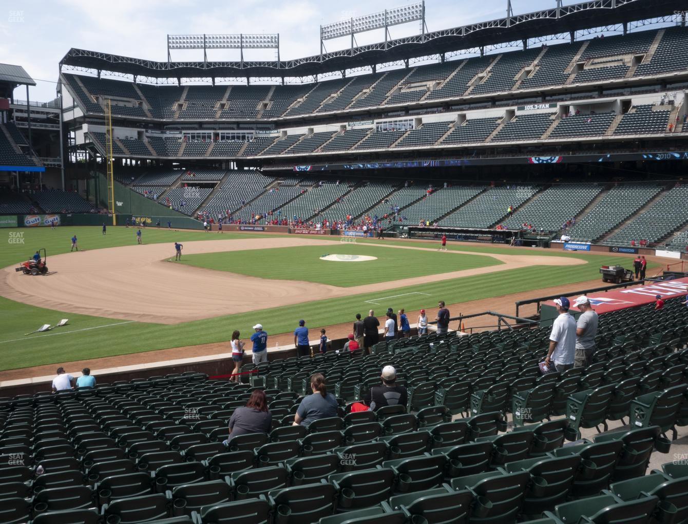 NHL at Globe Life Park Section 16 View